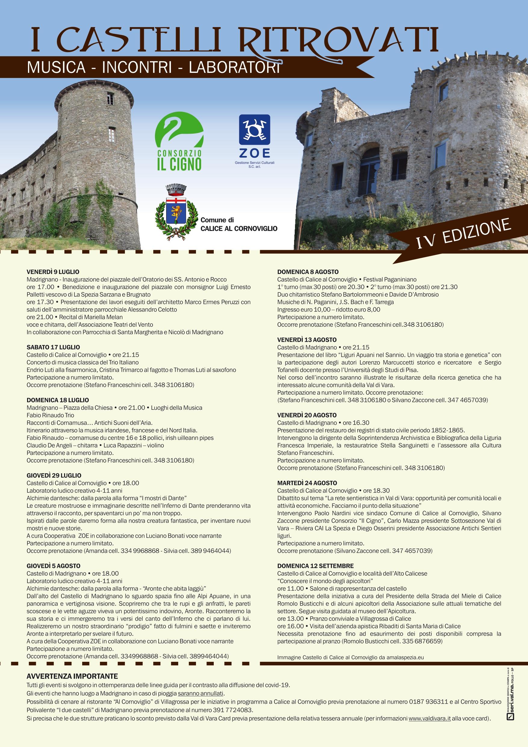 Locandina eventi Castelli ritrovati IV edizione